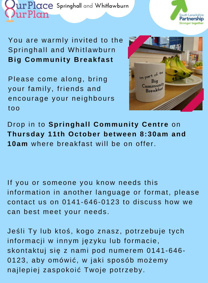 Community Breakfast October 2018