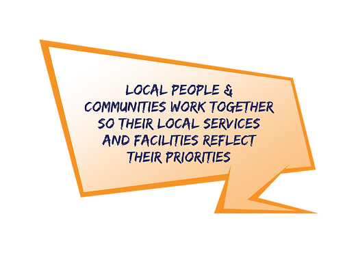 Local people & communities work together so their local services and facilities reflect their priorities