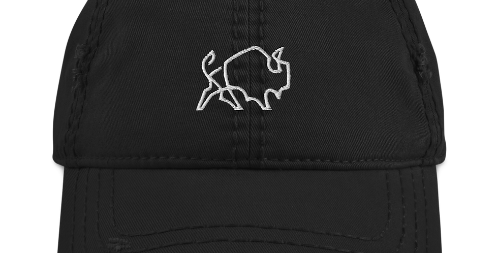 Painted Buffalo Distressed Dad Hat