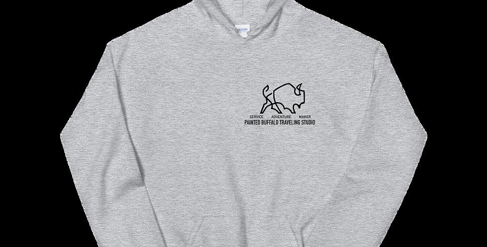 Service Adventure Maker Hoodie (black Logo)
