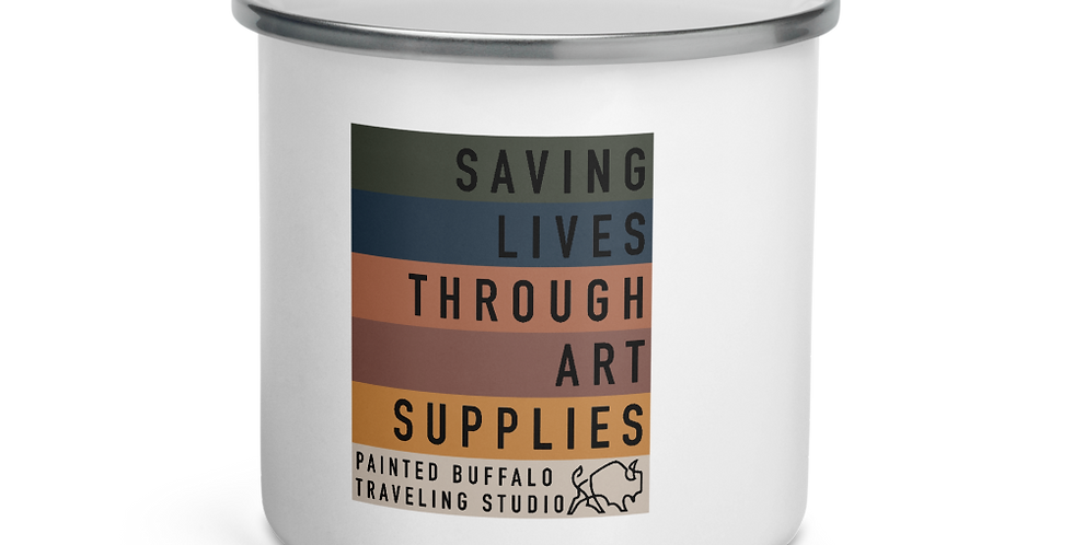 Saving Lives Enamel Mug