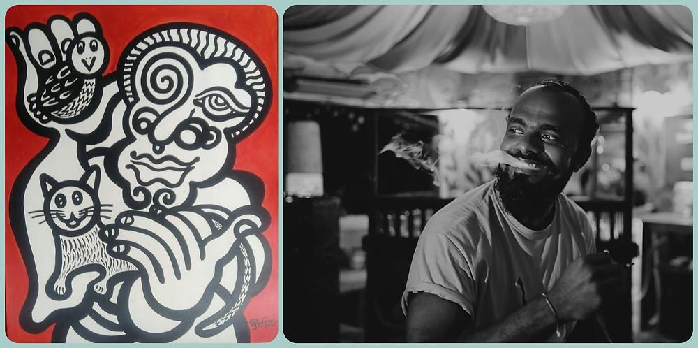 Traditional Art by Sri Lankan Artist Rajitha Raji Lasantha from Kitesurfing Lanka