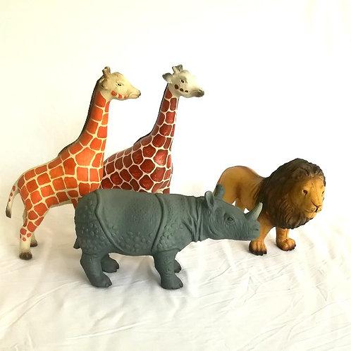 Wild Animal Rubber Toys
