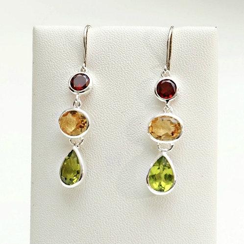 Mixed Gemstone Earrings