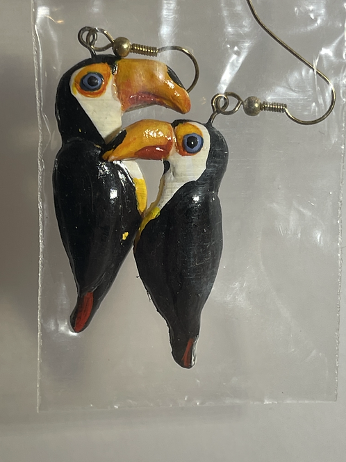 Handmade Toucan Earrings