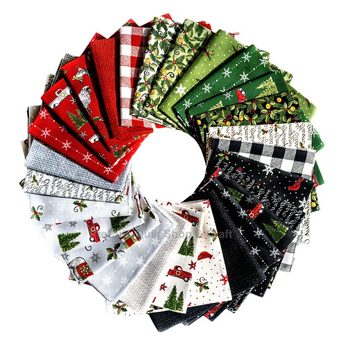 Homegrown  Holidays Fat Quarter Bundles by Deb Strain for  Moda Fabrics