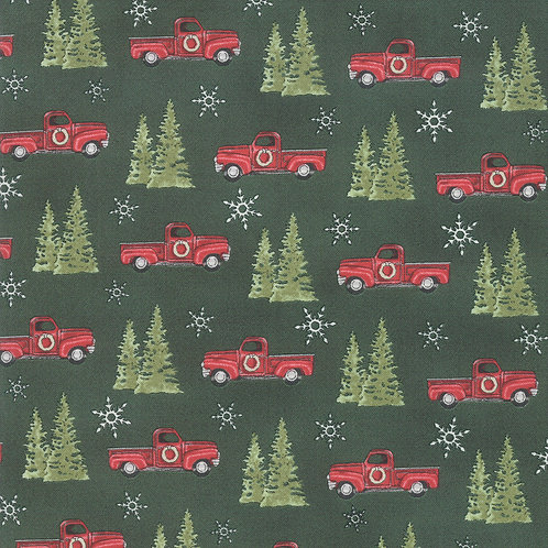 Homegrown Holiday Trucks and Trees Green By Deb Strain for Mod