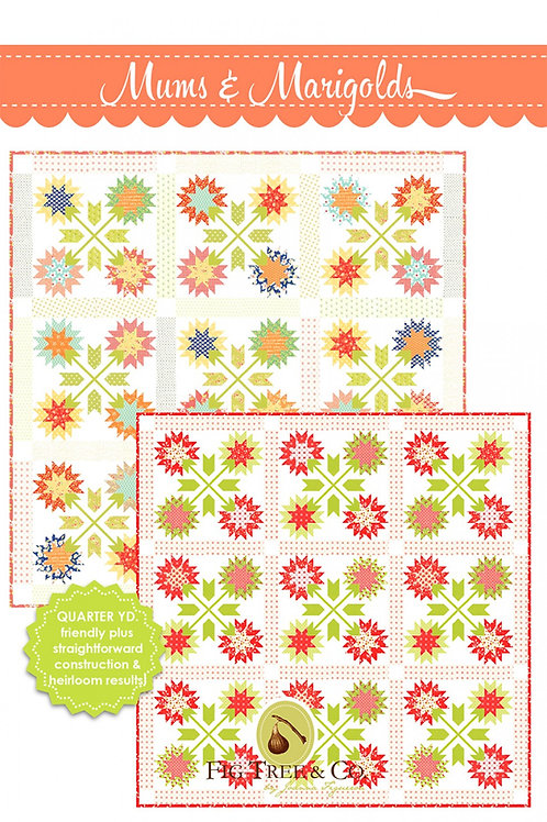 Mugs and Marigolds Quilt Pattern Featuring Catalina ByFig Tree Quilts