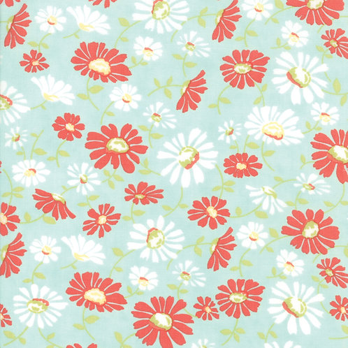 Catalina Daisy Sea Glass Yardage By Fig Tree Quilts
