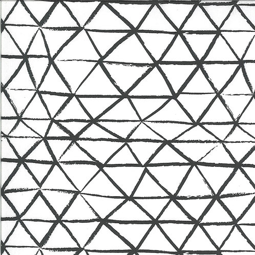 Zoology | Ivory Charcoal Rustic Triangle by Gingiber For Moda Fabrics