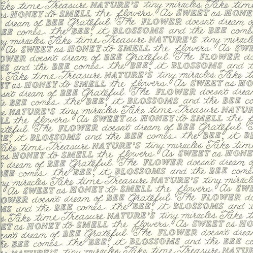 Bee Grateful | Sweet Words Parchment by Deb Strain for Moda Fabric
