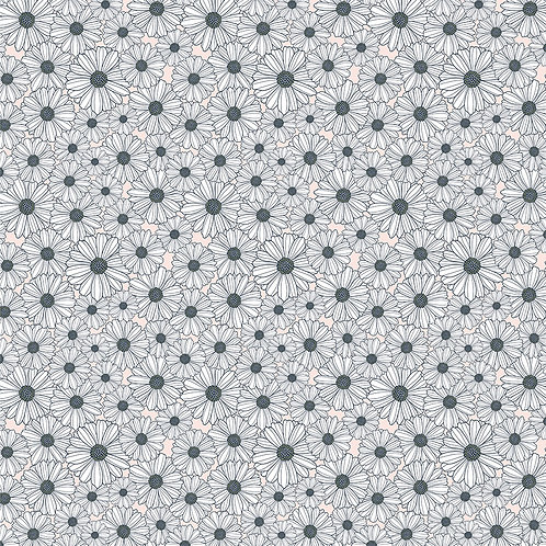 Daisy Mae - Daisy Mae White by Lori Woods For Poppie Cotton Fabrics