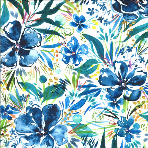 Moody Bloom Digital | Wilderbloom Indigo By Create Joy Project For Moda Fabrics