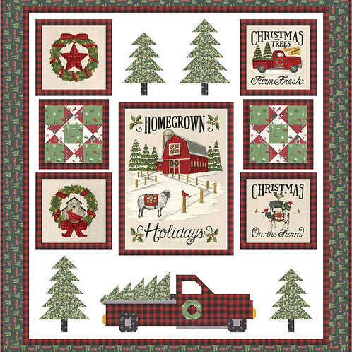 The Perfect Tree Quilt Kit Featuring Homegrown Holiday By Deb Strain