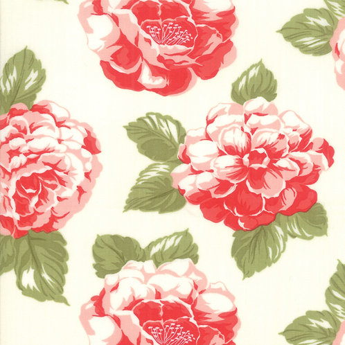 """108"""" Early Bird Blooms Cream Wide Backing"""