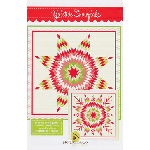 Yuletide Snowflake Quilt Pattern by Fig Tree Quilts