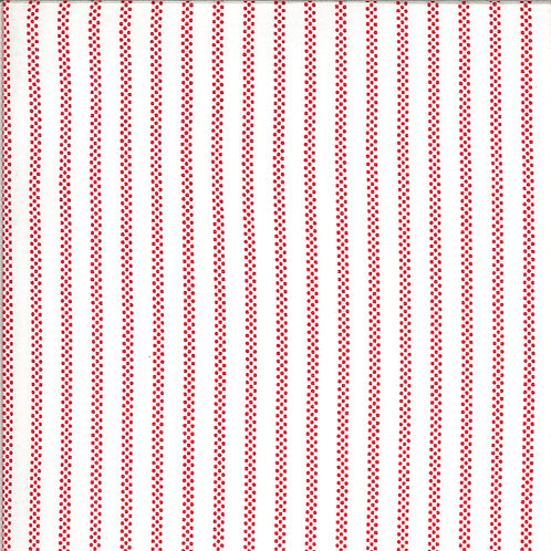Homestead Pin Stripe Cloud Apple By April Rosenthal For Moda Fabrics