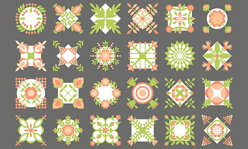 Apricot & Ash Ash Panel  By Corey Yoder for Moda Fabrics