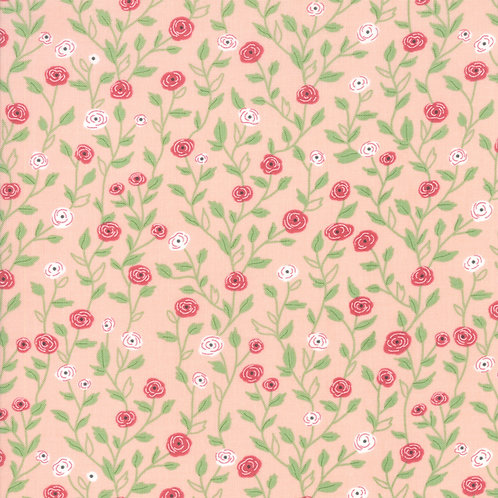Bloomington Posie Pink Pocket Full Of Posies by Lella Boutique for Moda Fabrics