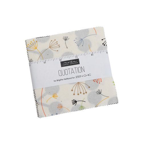 Quotation Charm Pack By Zen Chic for Moda Fabrics