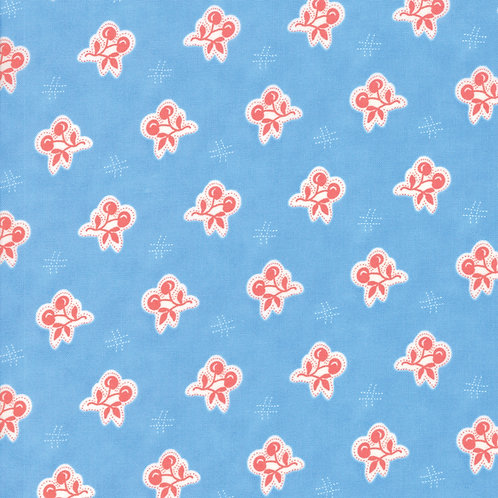 Catalina Ocean Cherry  Yardage By Fig Tree Quilts