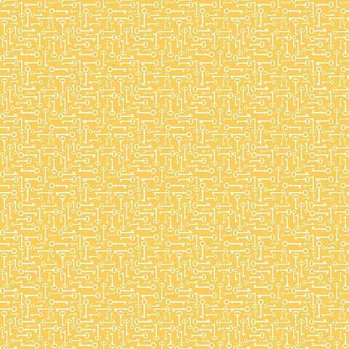 Bloom and Grow Keys Yellow by Simple Simon and Company for Riley Blak
