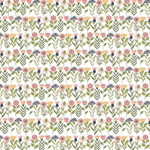 Daisy Mae - Fresh Cut White by Lori Woods For Poppie Cotton Fabrics
