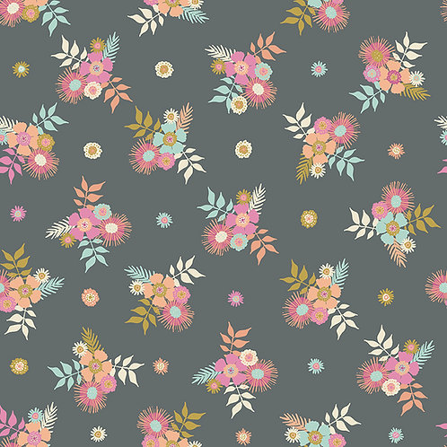Meadow Lane | Posies Gray by Sara Davies for Riley Blake Designs
