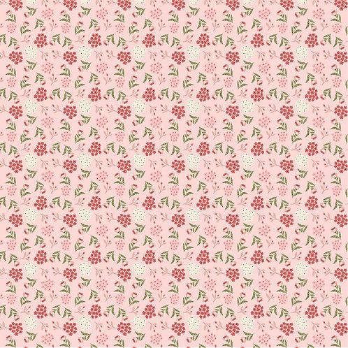 Cherished Moments New Blooming Buds Pink by Lori Woods For Poppie Cotton F