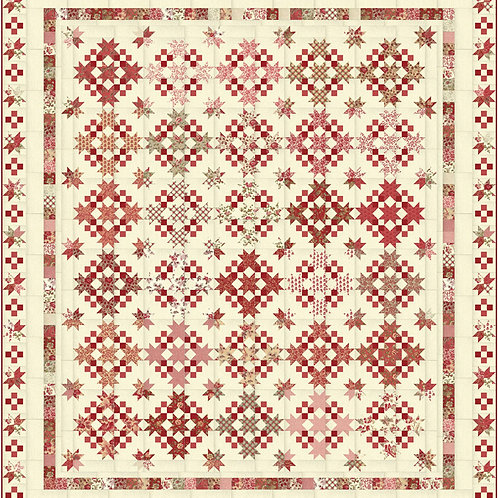La Roserai Quilt Kit Featuring La Rose Rouge by French General for  Moda Fabrics