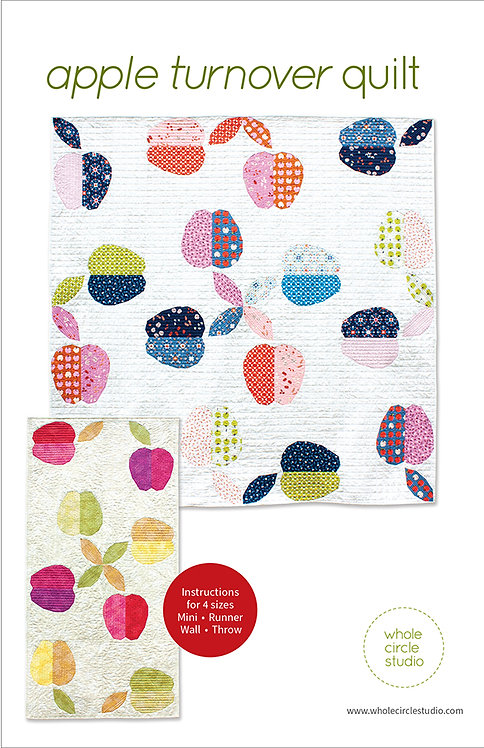 Apple Turnover Quilt Pattern featuring Smol Collection By Whole Circle Studio
