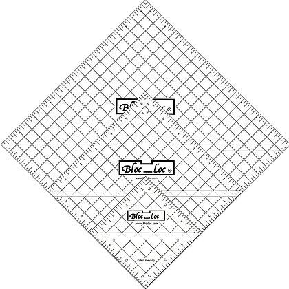 Half Square Triangle Ruler Set 7