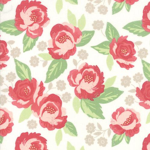 Bloomington Eggshell Faded Bloom By Lella Boutique for Moda Fabrics