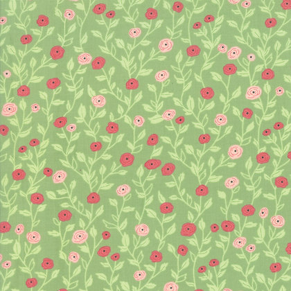 Bloomington Sage Pocket Full Of Posies by Lella Boutique for Moda Fabrics