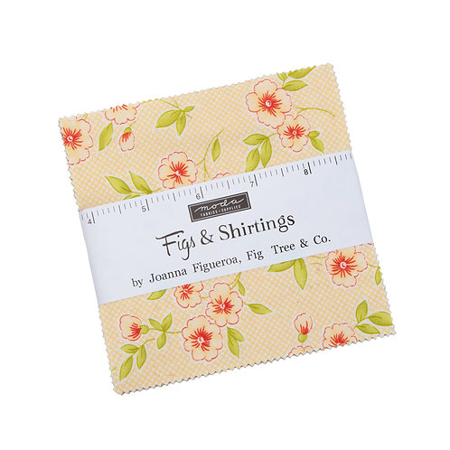 Figs and Shirting Charm Pack By Fig Tree Quilts for Moda Fabrics