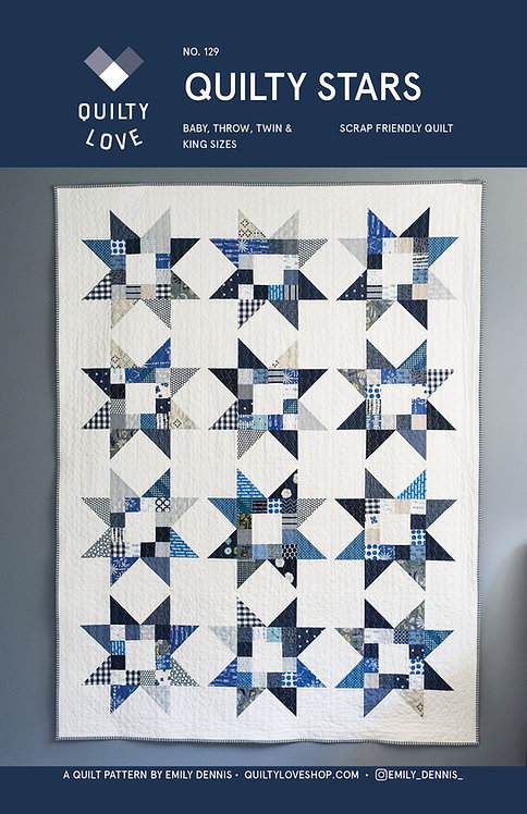 Quilty Stars Quilt Pattern by Emily of Quilty Love.