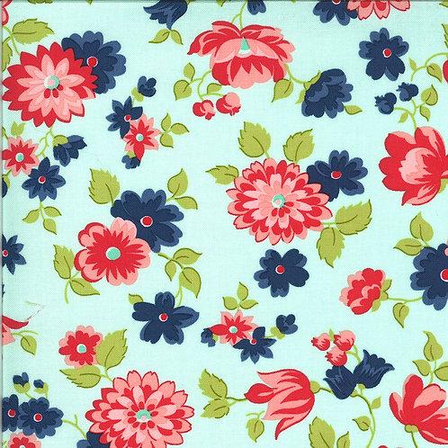 Shine On Blossom Aqua by Bonnie and Camille for Moda Fabrics