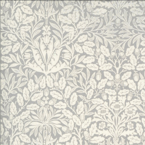 Dover Acorn Damask Grey By Brenda Riddle Designs for Moda Fabric