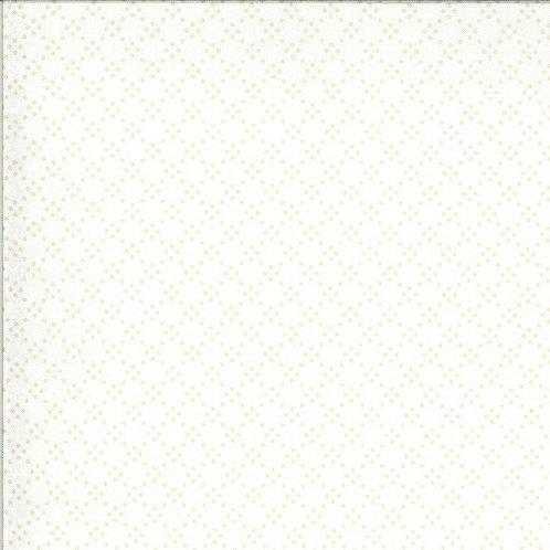 Dover Tonal Dot Linen White By Brenda Riddle Designs for Moda Fabrics