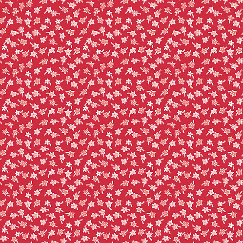 Flea Market | Star Flowers Red by Lori Holt for Riley Blake Designs