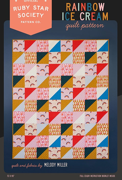 Rainbow Ice cream Quilt Pattern by Ruby Star Society