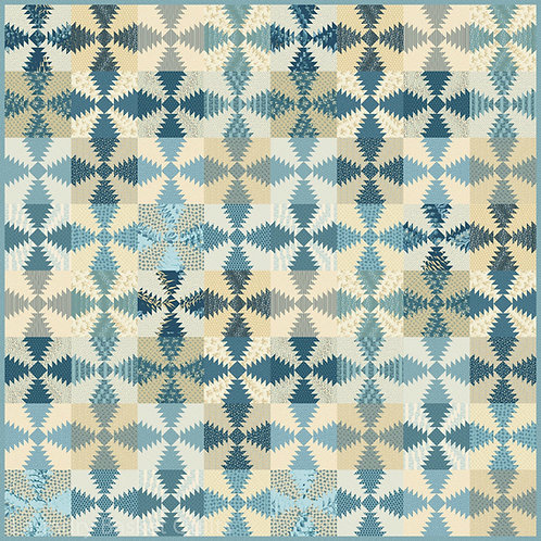 Blue Hawaiian Delight Quilt Pattern By Laundry Basket Quilts