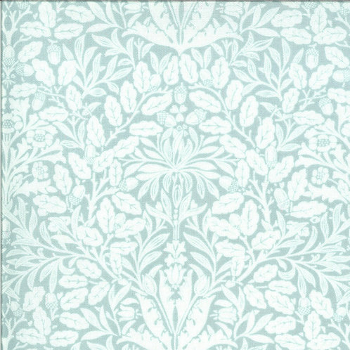 Dover Acorn Damask Mist By Brenda Riddle Designs for Moda Fabric