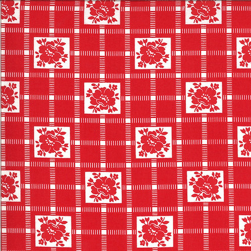 Shine On  Check Red by Bonnie and Camille for Moda Fabrics