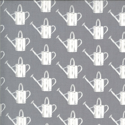 Homestead Watering Can Fog By April Rosenthal For Moda Fabrics