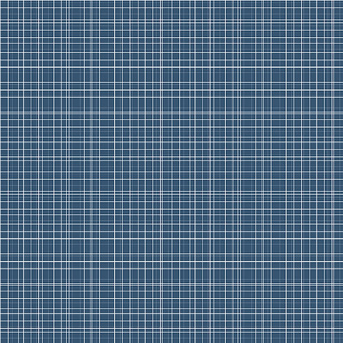 Bloom and Grow Plaid Navy by Simple Simon and Company for Riley Blak