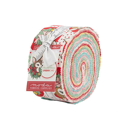 Deer Christmas Jelly Roll by Urban Chiks for Moda Fabrics
