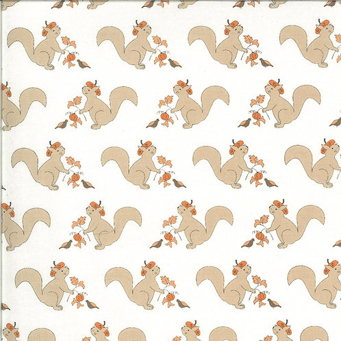 Squirrelly Girl Ivory by Bunny Hill Designs for Moda