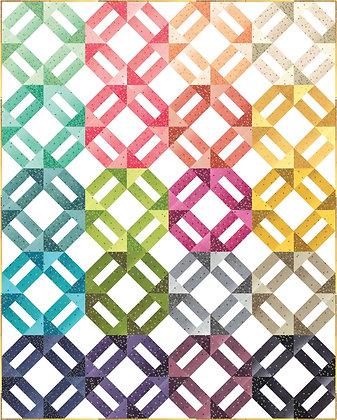 Wave Ombre Confetti Metallic Kit Moda Precuts