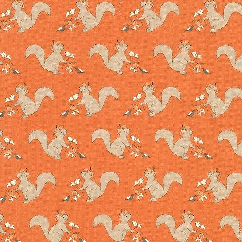 Squirrelly Girl Pumpkin by Bunny Hill Designs for Moda Fabrics